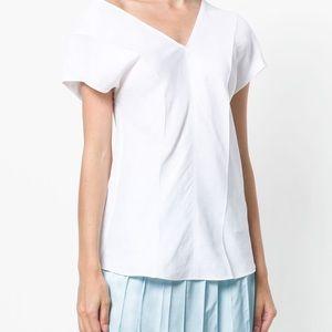 Helmut Lang asymmetrical linen top